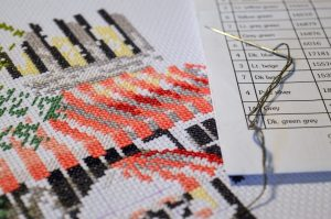 Photo of embroidery/patterning technique