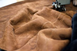Photo of leather material