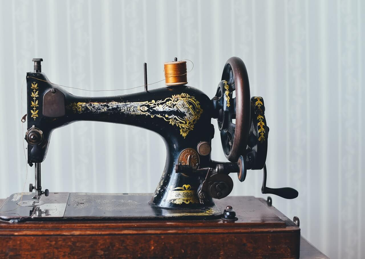 floral sewing machine