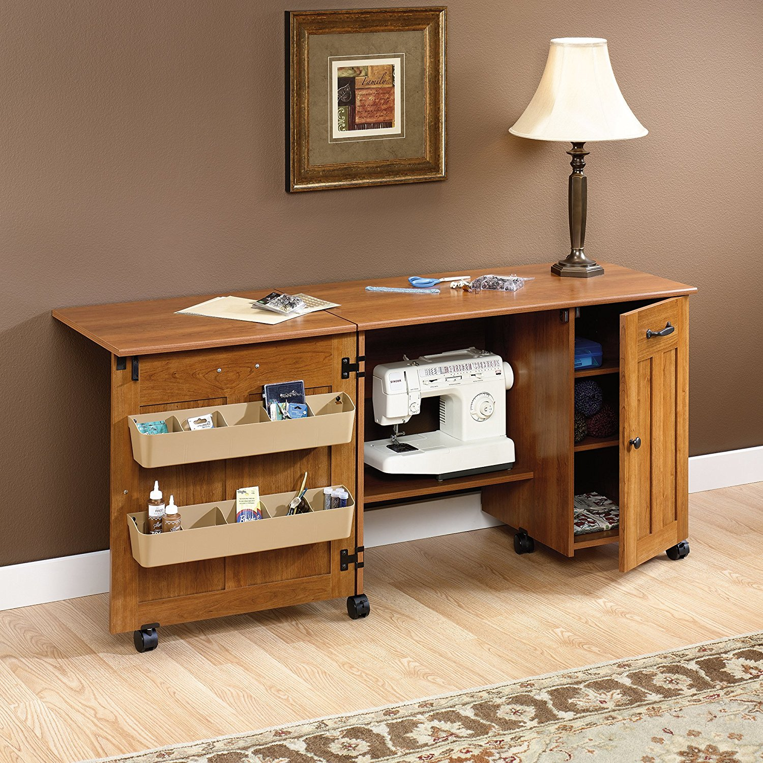 The Sauder Sewing Craft Center Folding Table